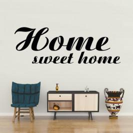 Home sweet home - vinylová samolepka na zeď 100x34cm
