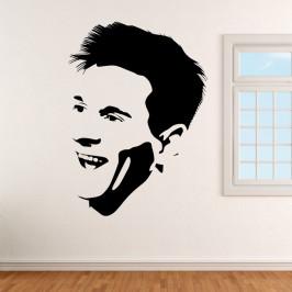 Lionel Messi fotbalista - vinylová samolepka na zeď 137x100cm