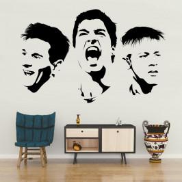 Messi Suárez a Neymar - vinylová samolepka na zeď 80x51cm