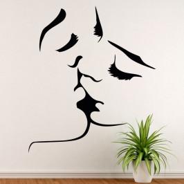 Polibek láska - vinylová samolepka na zeď 130x112cm