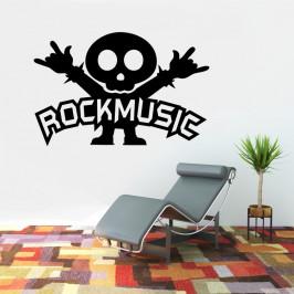 Rockmusic rokér - vinylová samolepka na zeď 80x52cm