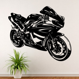 Silniční motorka GP - vinylová samolepka na zeď 100x86cm