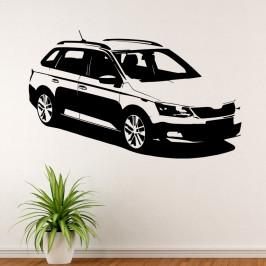 Škoda Fabia kombi - vinylová samolepka na zeď 163x100cm