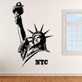 Socha Svobody NYC - vinylová samolepka na zeď 160x100cm