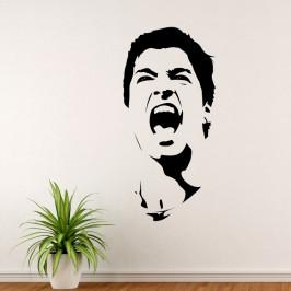 Suárez Díaz fotbalista - vinylová samolepka na zeď 150x72cm