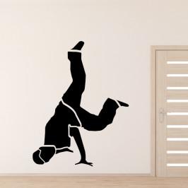 Tanečník brakedance - vinylová samolepka na zeď 100x76cm