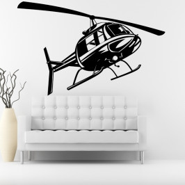 Vrtulník helikoptéra - vinylová samolepka na zeď 80x51cm