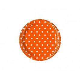 Talíř papírový dia 23 cm, 8KS Orange Dots
