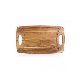 Prkénko krájecí dřevěné PREMIUM Dark Brown 42 x 25 x 1,8 cm
