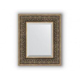 Zrcadlo s fazetou v rámu, stříbrný monogram