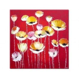 Volnost II. - květiny na červeném pozadí