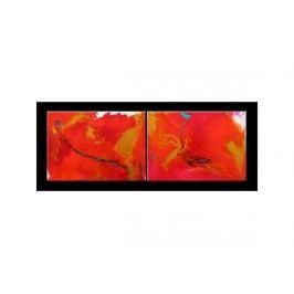 Obrazový set - Červené rozlévání