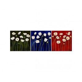 Vícedílné obrazy - Bílé květinky