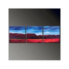 Vícedílné obrazy - Červený les