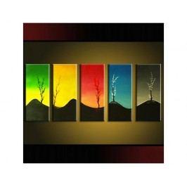 Vícedílné obrazy - Stromy v barvách