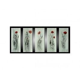 Vícedílné obrazy - Květy v bílé