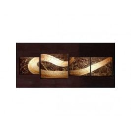 Vícedílné obrazy - Zlatá vlna