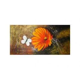 Obraz - Květ s motýlem