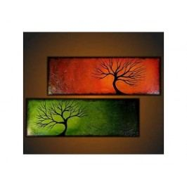 Obrazový set - Barevné stromy