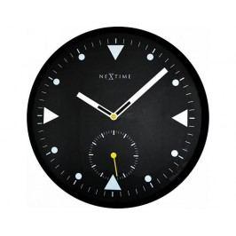 Designové nástěnné hodiny 3049 Nextime Serious black 32cm