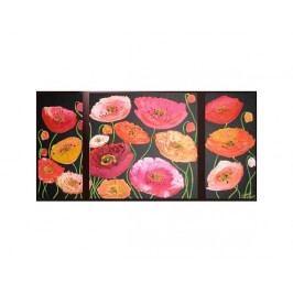 Vícedílné obrazy - Barevné květy