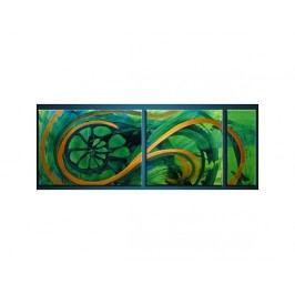 Vícedílné obrazy - Zelená spirála