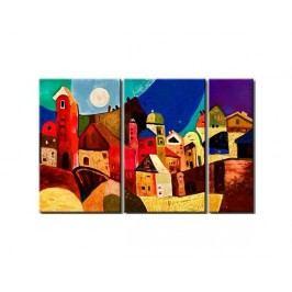 Vícedílné obrazy - Barevné město