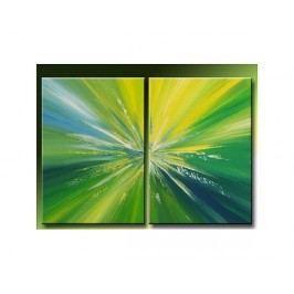 Vícedílné obrazy - Zelená záře