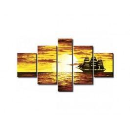 Vícedílné obrazy - Loď na moři