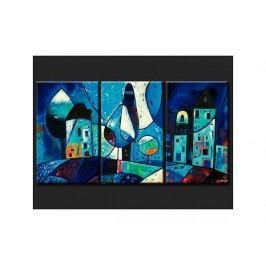Vícedílné obrazy - Město v noci