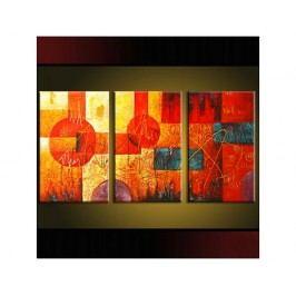 Vícedílné obrazy - Barevná abstrakce