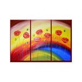 Vícedílné obrazy - Květy v duze