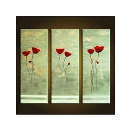 Vícedílné obrazy - Červené tulipány