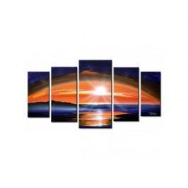 Vícedílné obrazy - Oranžový západ