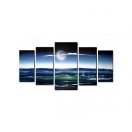 Vícedílné obrazy - Měsíc nad mořem