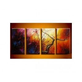 Vícedílné obrazy - Rozbouřený strom