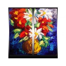 Vícedílné obrazy - Barevná kytice