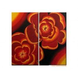 Vícedílné obrazy - Žhavé květy