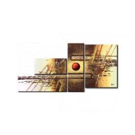 Vícedílné obrazy - Červený kruh