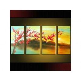 Vícedílné obrazy - Větev nad jezerem