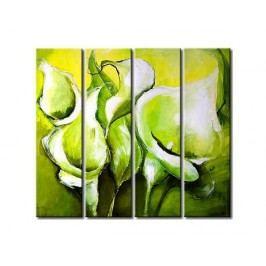 Vícedílné obrazy - Moderní květy