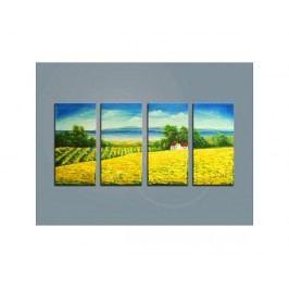 Vícedílné obrazy - Slunečnicové pole