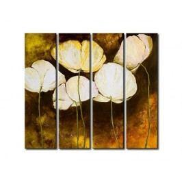 Vícedílné obrazy - Bílé květy