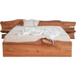 Designová masivní postel ELBA s úložným prostorem