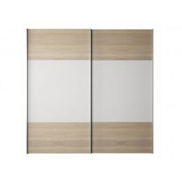 Skříň s posuvnými dveřmi Vitres, dub sonoma / bílá