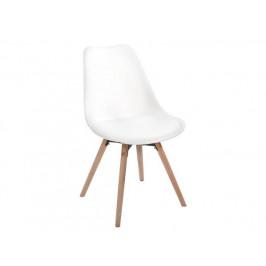 Jídelní židle Leitch, bílá