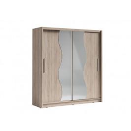 Skříň s posuvnými dveřmi Palcos 1, dub sonoma