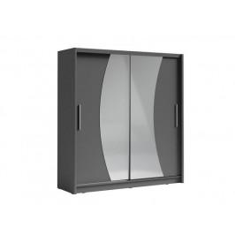 Tmavěšedá skříň s posuvnými dveřmi Palcos 2