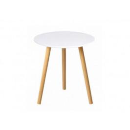 Příruční stolek Menaje, bílá