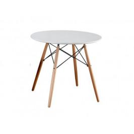 Jídelní stůl Statuine 90, bílá / buk